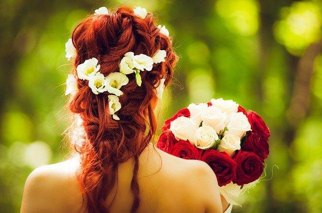 couronne de fleurs de mariée