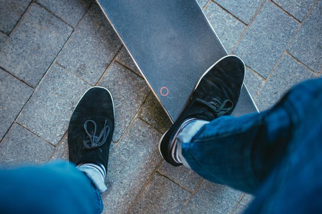 chaussures de skate noires